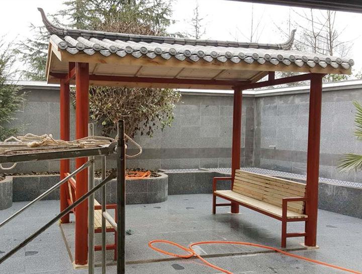 钢木结构凉亭
